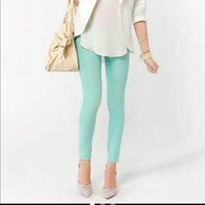 Kate Spade Play Hooky Mint Green Jeans Sz 25